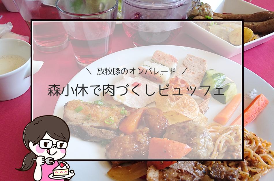 【森小休@鹿屋】ランチで放牧豚の肉づくしビュッフェを味わい尽くす!